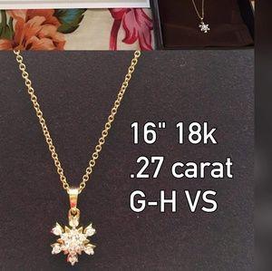 Jewelry - Snowflakes designed diamonf pendant